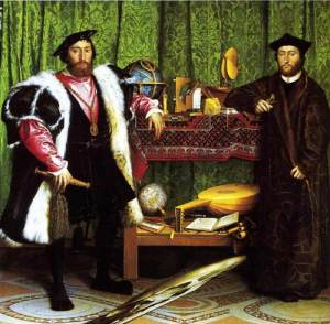 The Ambassadors by Hans Holbein the Younger (1533)